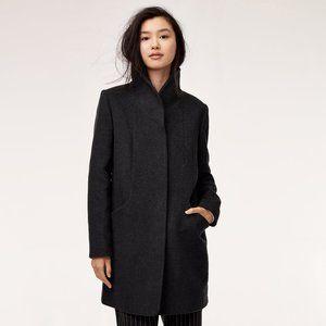 Aritzia Wilfred Cocoon High Neck Wool Blend Coat